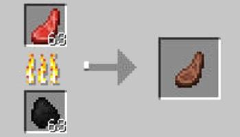 マインクラフト攻略 ヒツジの焼き肉の作り方