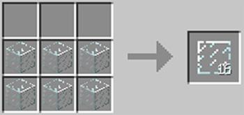 マインクラフト攻略 板ガラスの作り方レシピ