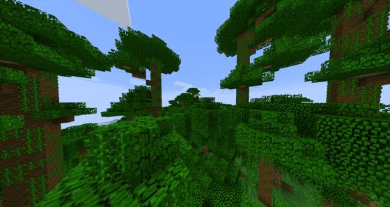 マインクラフト攻略 ジャングルの木材の採取方法