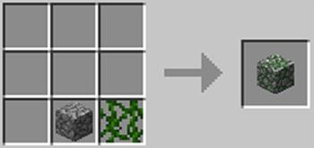 マインクラフト攻略 苔石の作り方レシピ