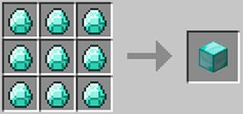 マインクラフト攻略 鉱石ブロックの作り方レシピ