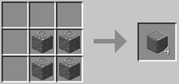 マインクラフト攻略 磨かれた安山岩の作り方レシピ