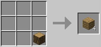 マインクラフト攻略 木材のレシピ