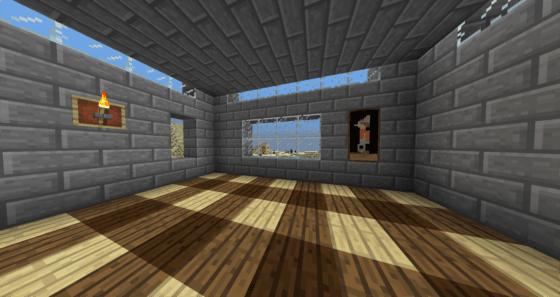 マインクラフト攻略 木材を使った建築例2