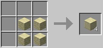 マインクラフト攻略 研がれた砂岩の作り方レシピ