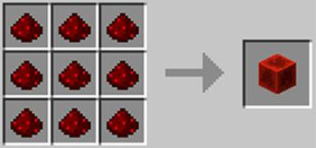 マインクラフト攻略 レッドストーンブロックの作り方レシピ