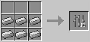 マインクラフト攻略 鉄格子の作り方レシピ
