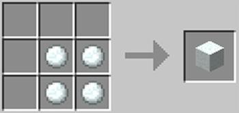 マインクラフト攻略 雪ブロックの作り方レシピ