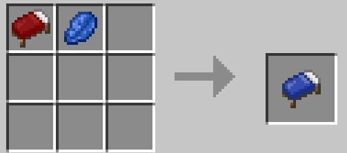マインクラフト統合版BEの攻略! 色違いのベッドのレシピ!