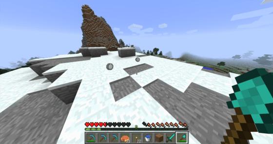 マインクラフト攻略 シャベルで雪を採取