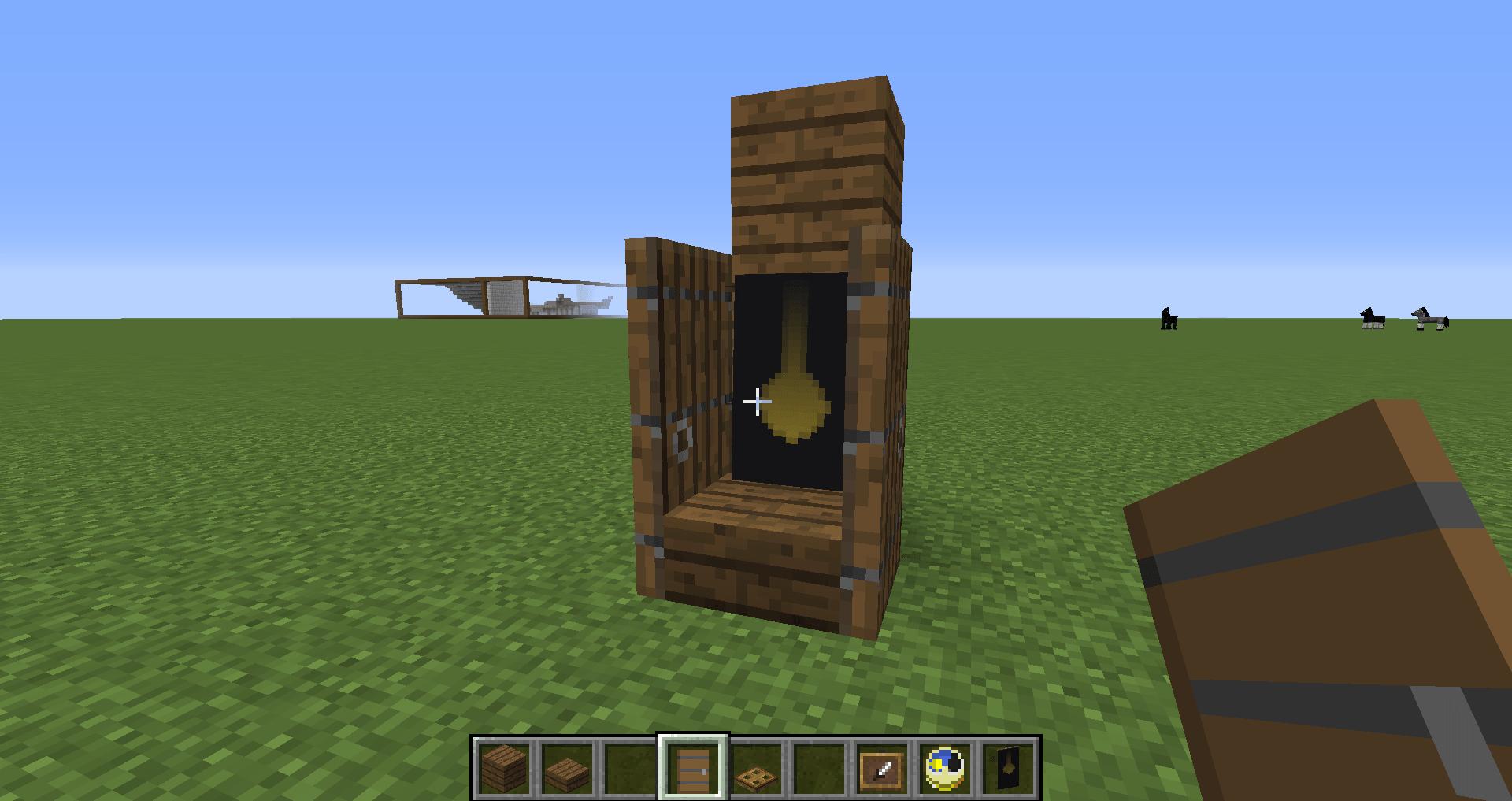 マインクラフト 柱時計の作り方4