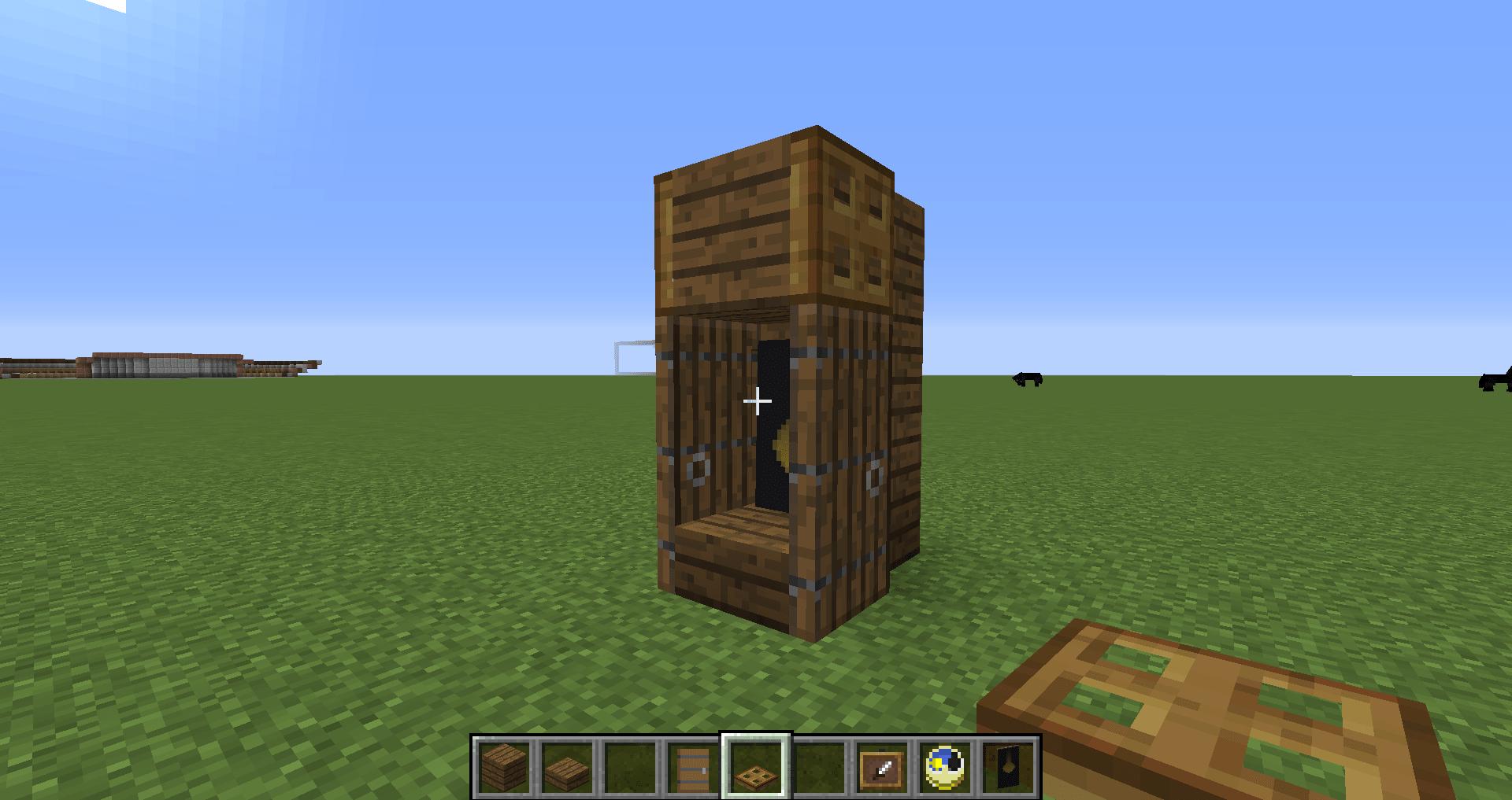マインクラフト 柱時計の作り方5