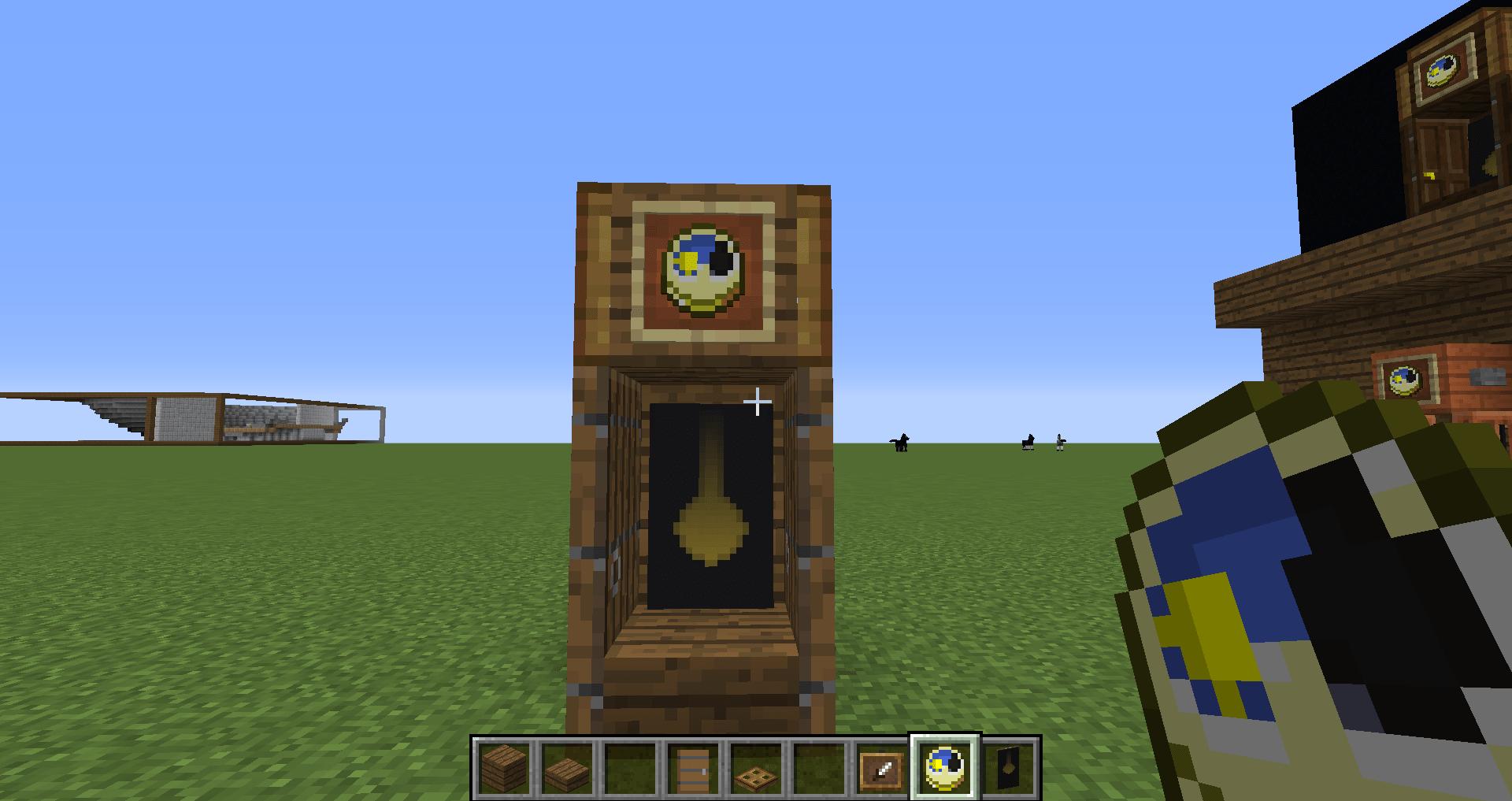 マインクラフト 柱時計の作り方8