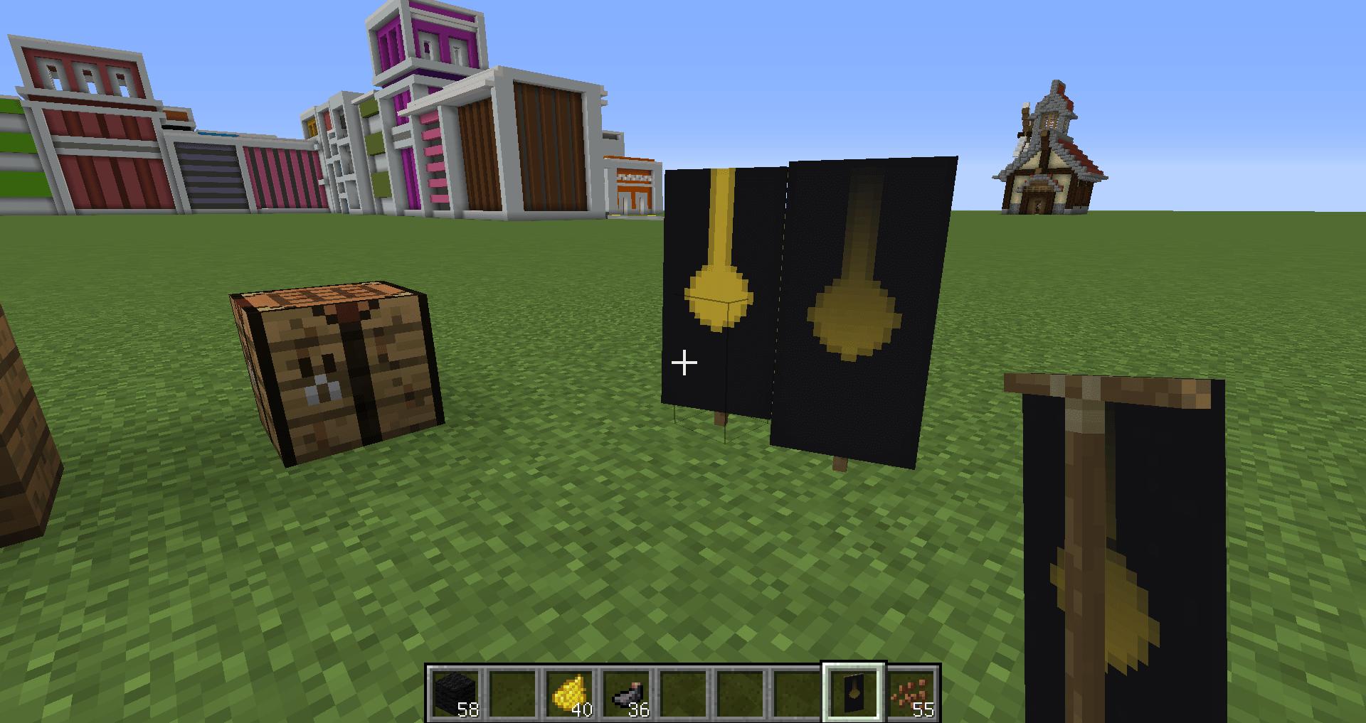 マインクラフト 柱時計の作り方 旗の作り方