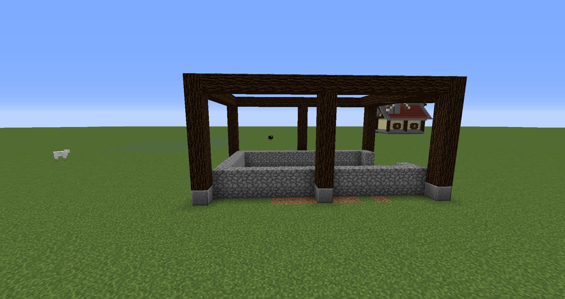 マインクラフト 風車小屋の作り方 簡単建築07