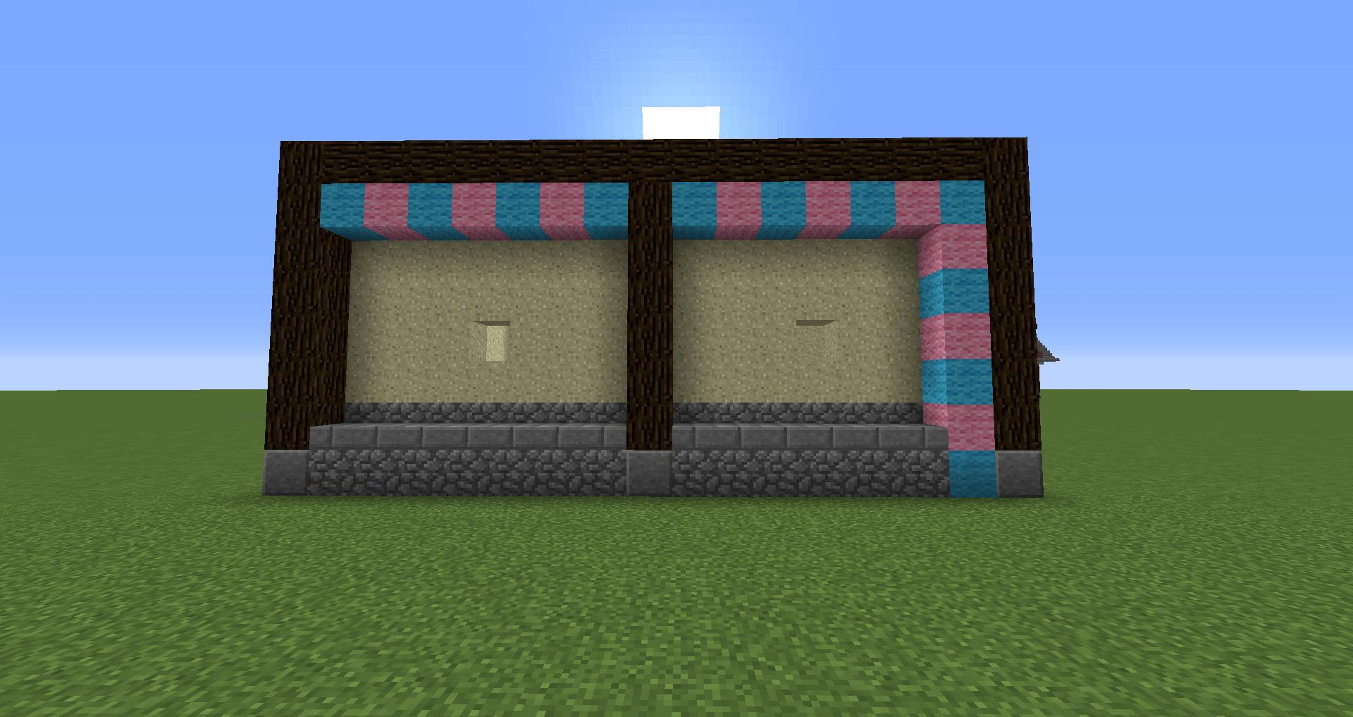 マインクラフト 風車小屋の作り方 簡単建築09
