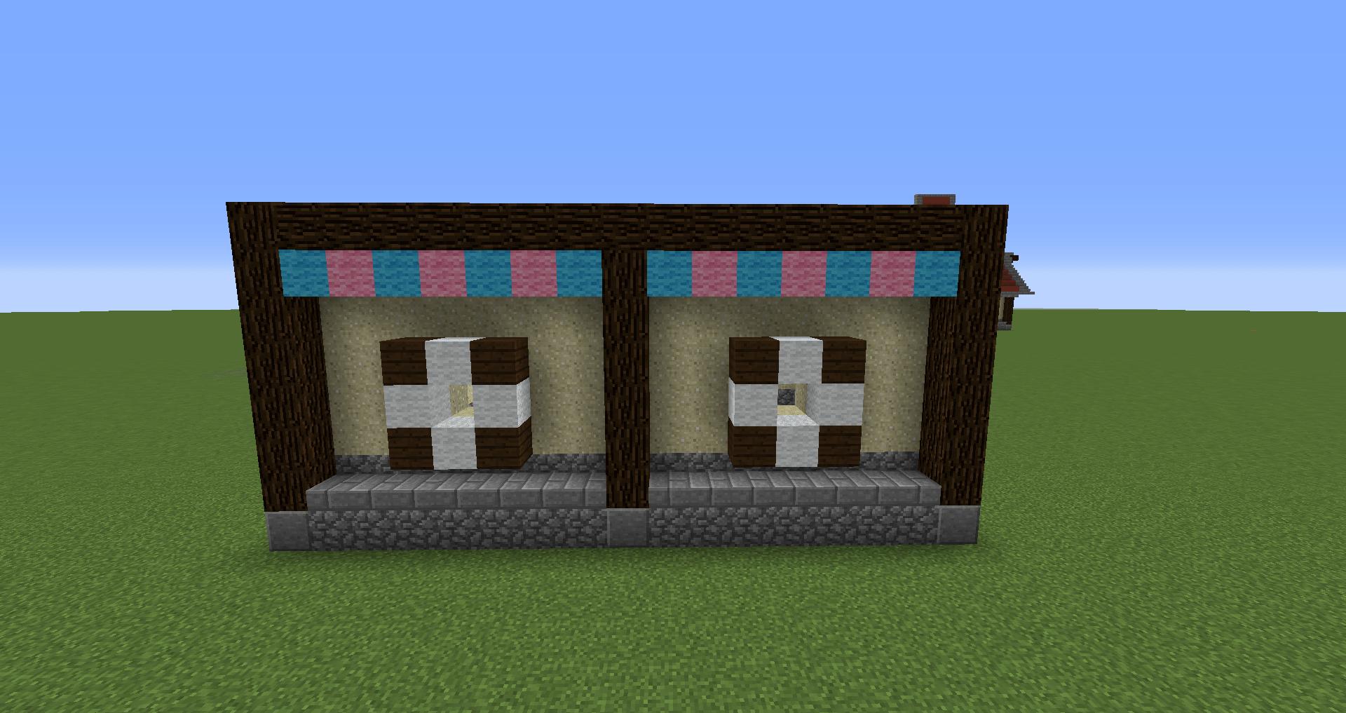 マインクラフト 風車小屋の作り方 簡単建築10