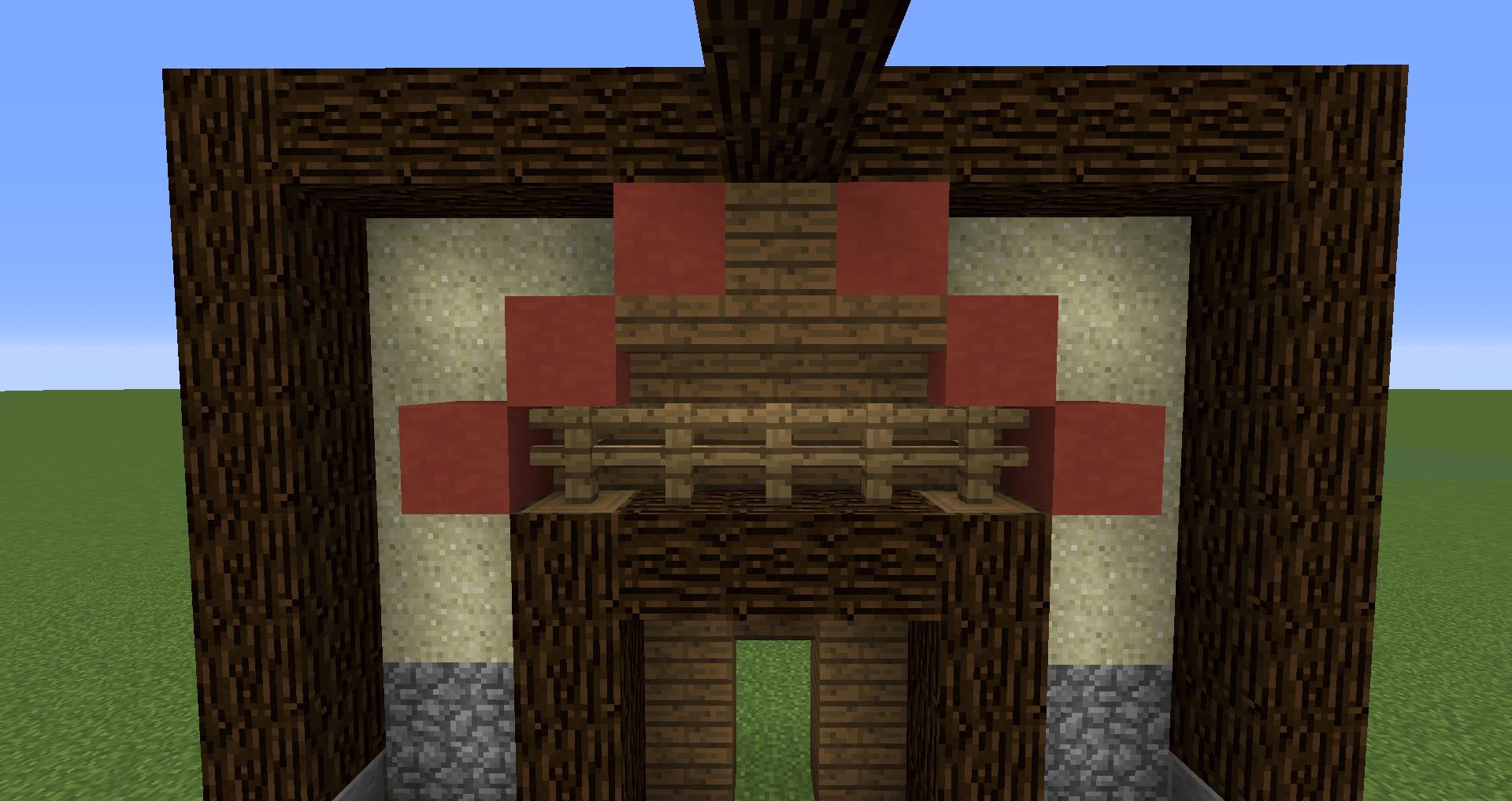 マインクラフト 風車小屋の作り方 簡単建築16