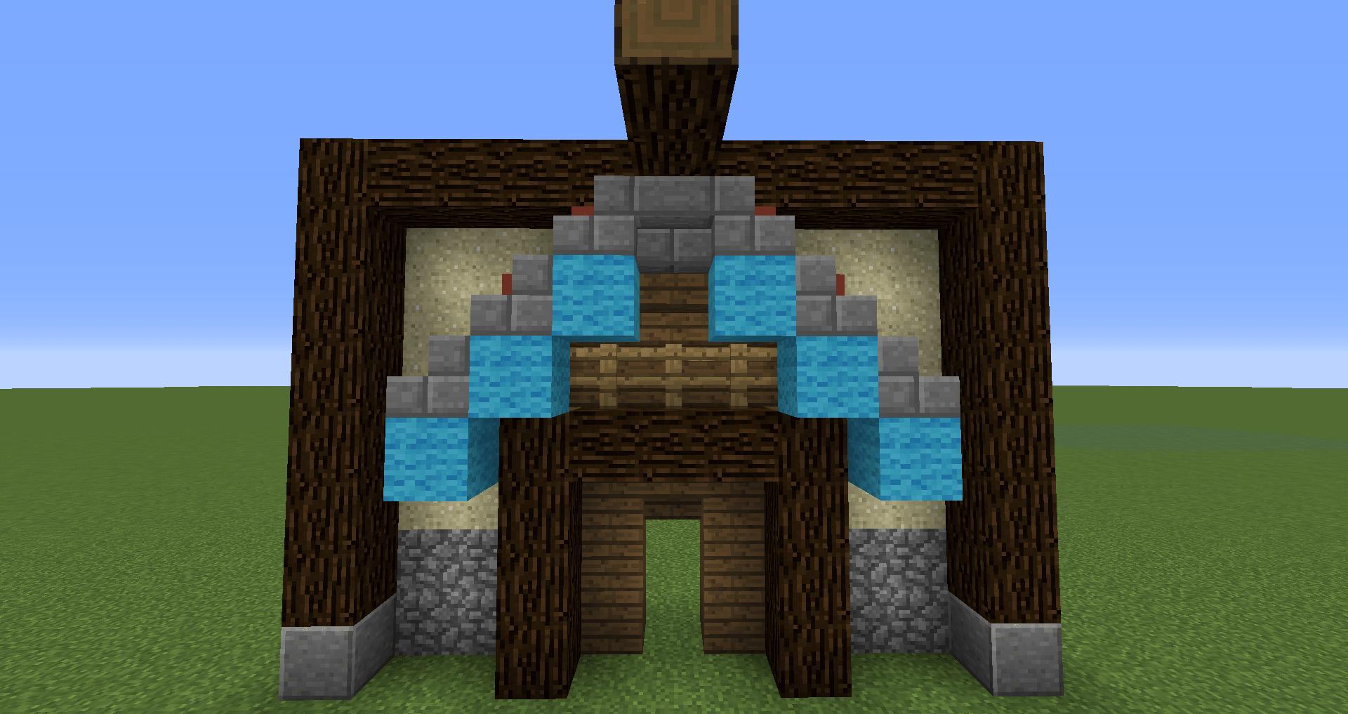 マインクラフト 風車小屋の作り方 簡単建築17