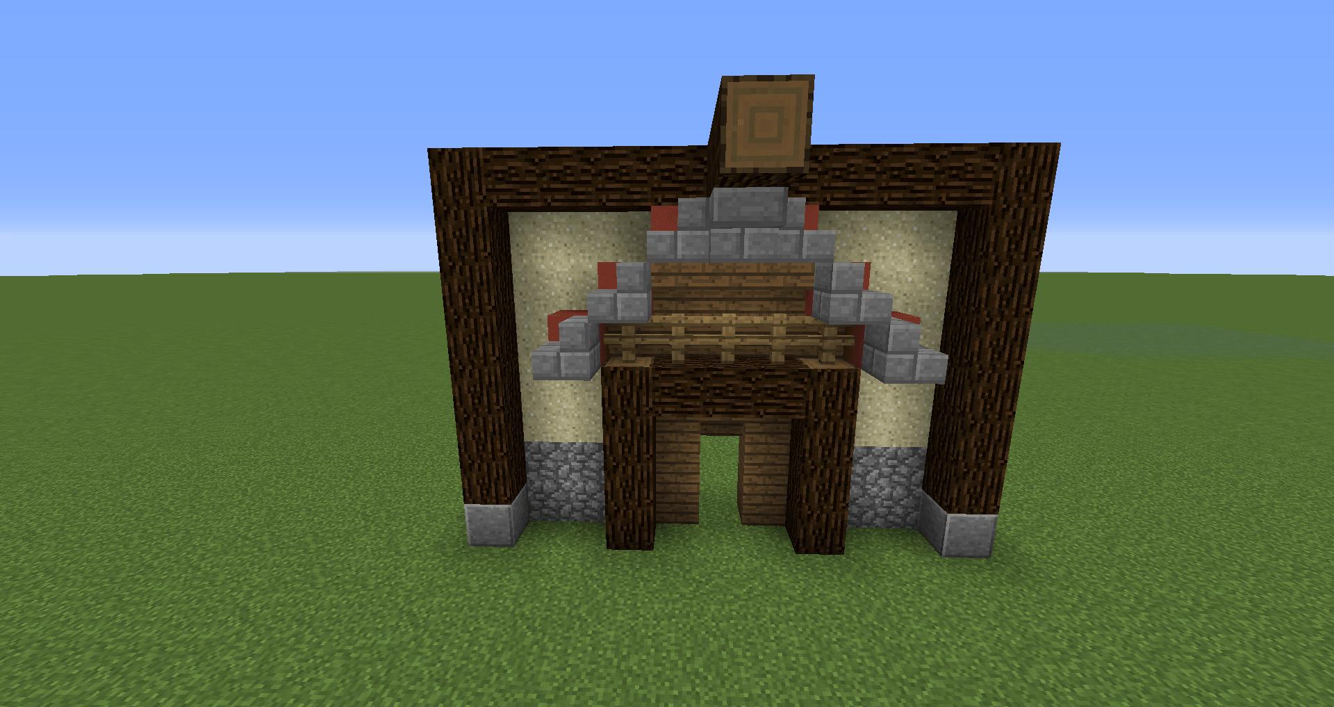マインクラフト 風車小屋の作り方 簡単建築18