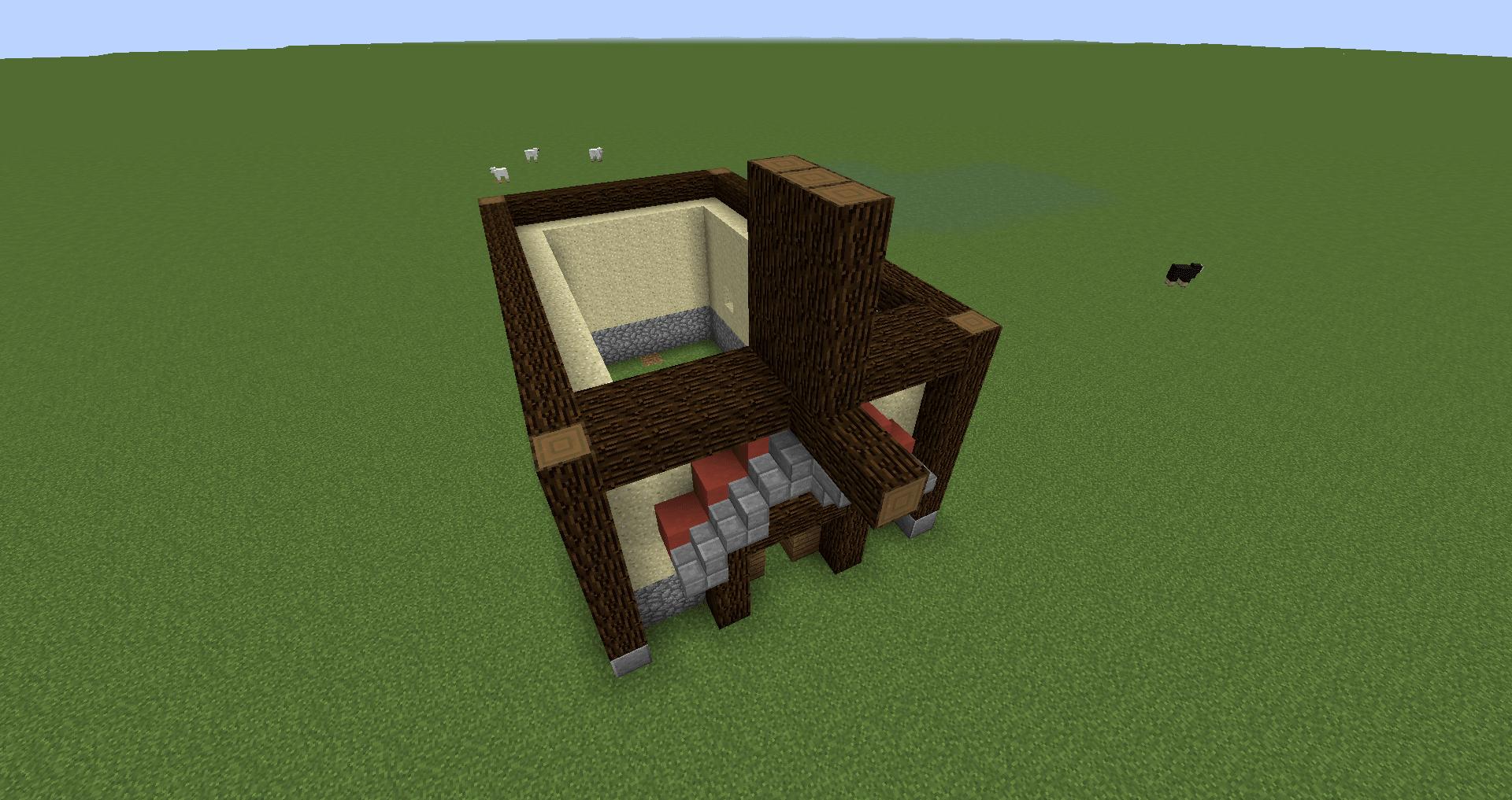 マインクラフト 風車小屋の作り方 簡単建築19