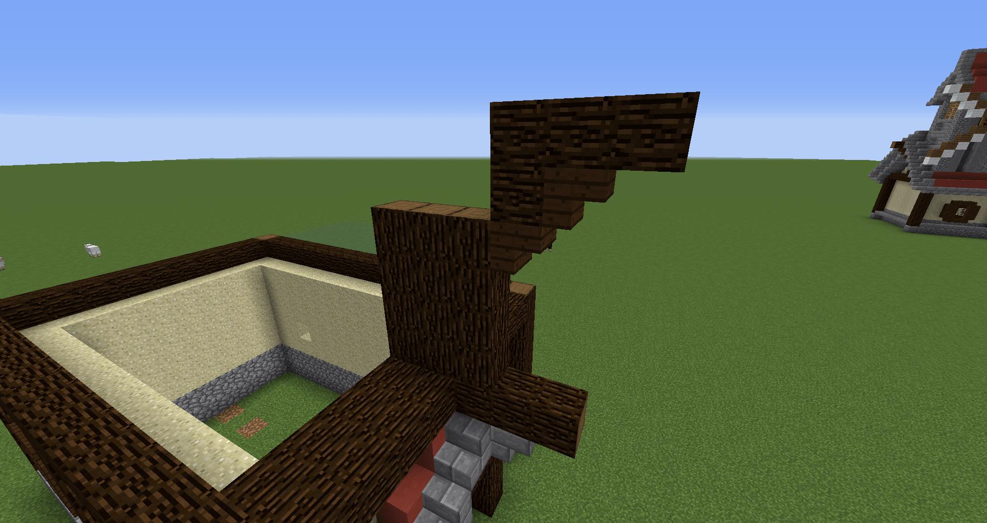マインクラフト 風車小屋の作り方 簡単建築20