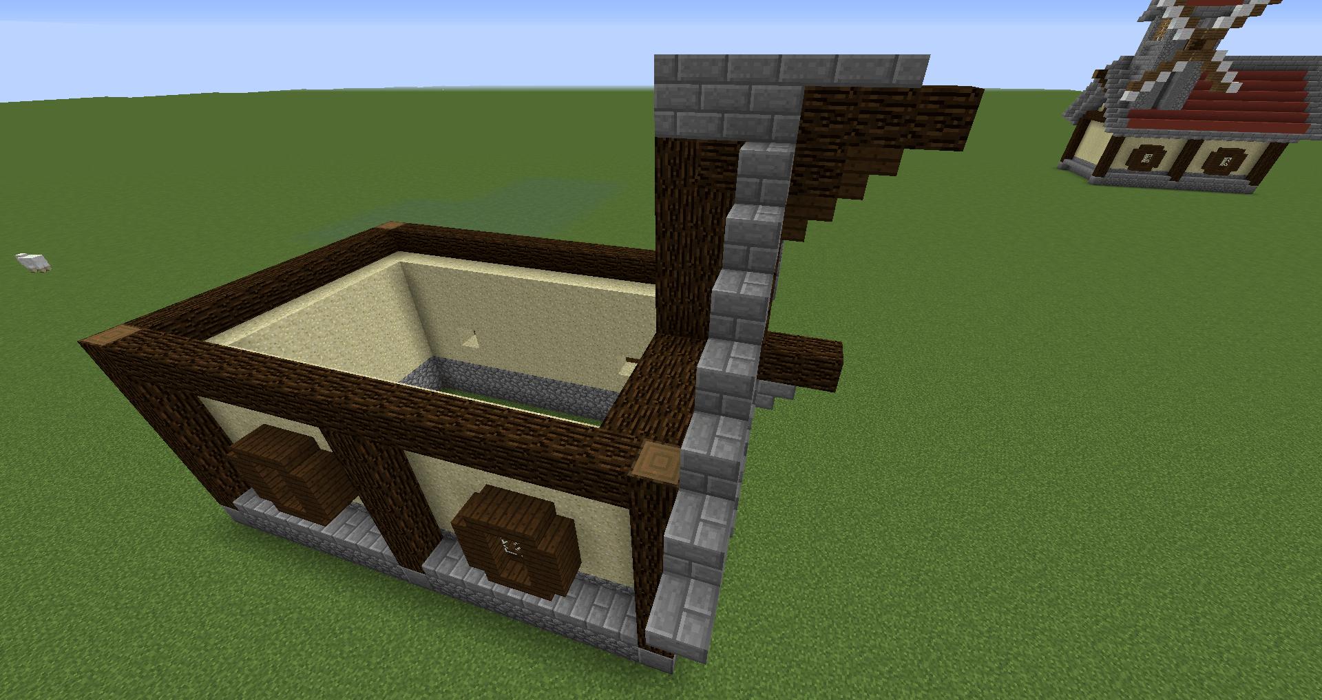 マインクラフト 風車小屋の作り方 簡単建築22