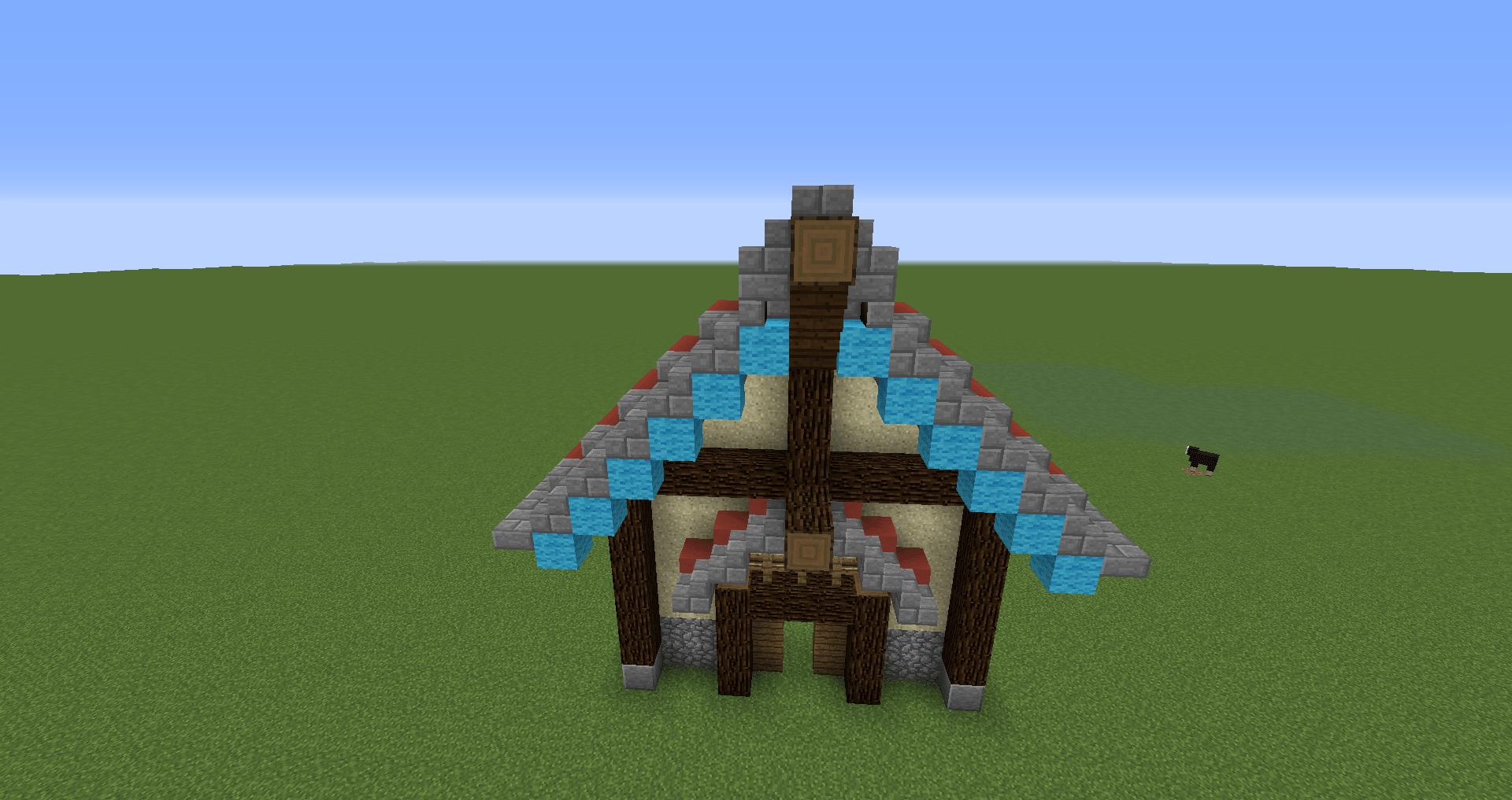 マインクラフト 風車小屋の作り方 簡単建築26
