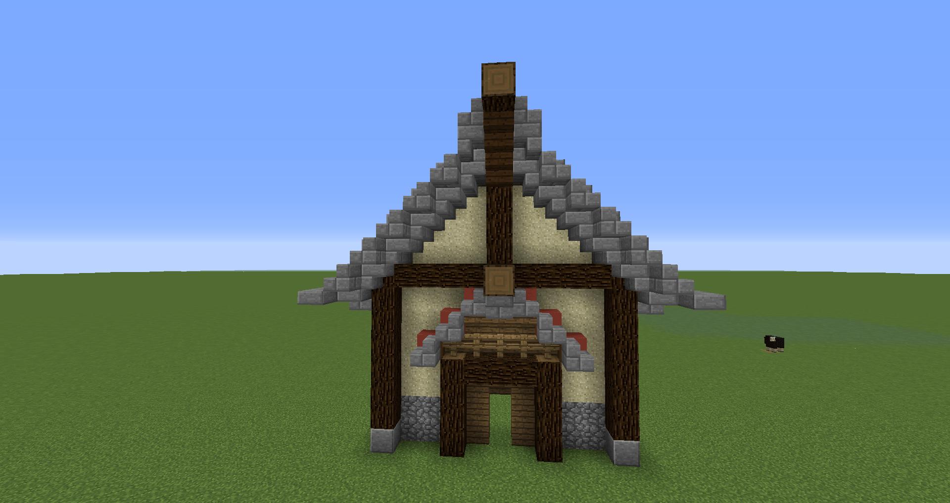 マインクラフト 風車小屋の作り方 簡単建築27