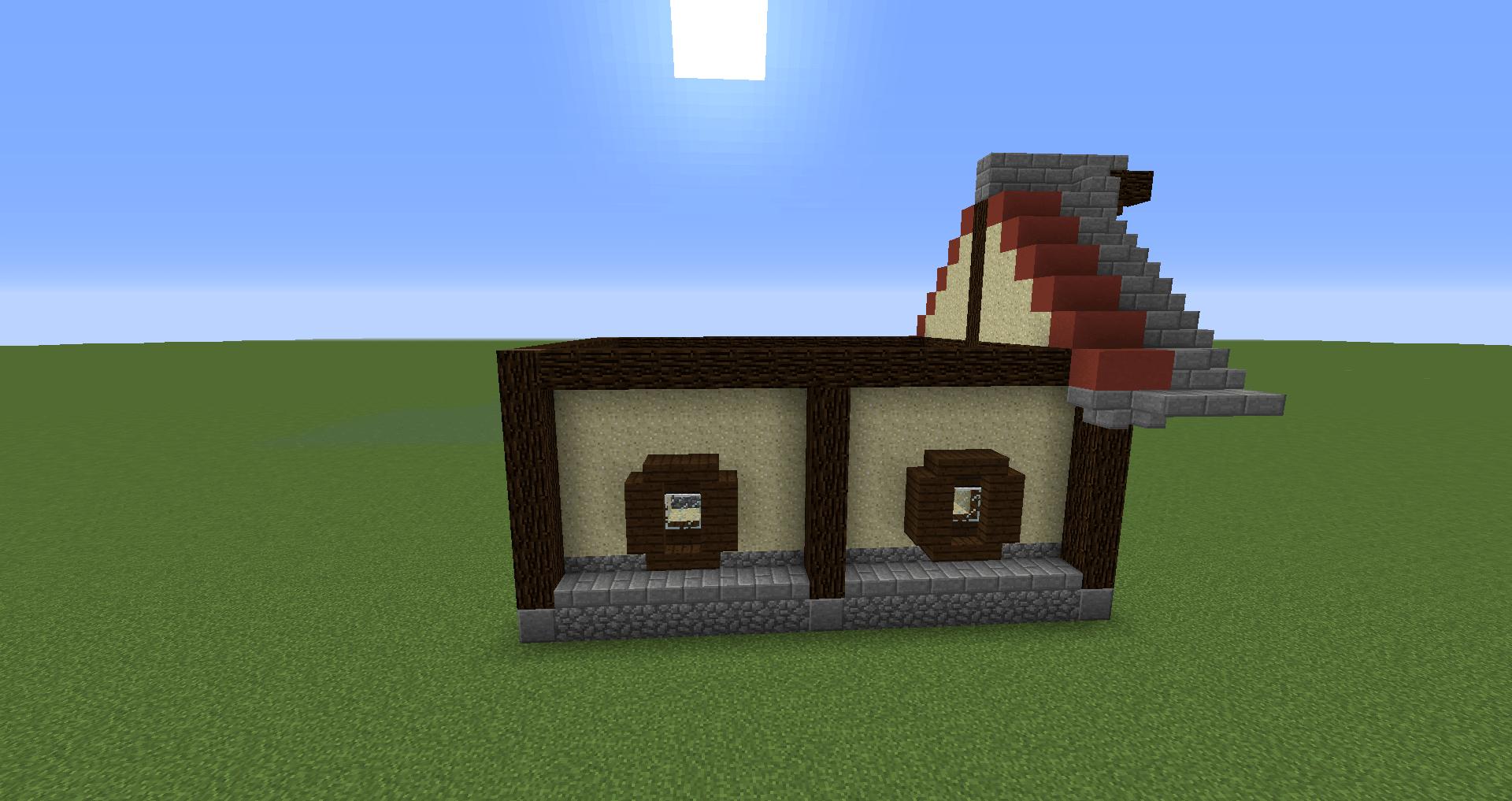 マインクラフト 風車小屋の作り方 簡単建築28