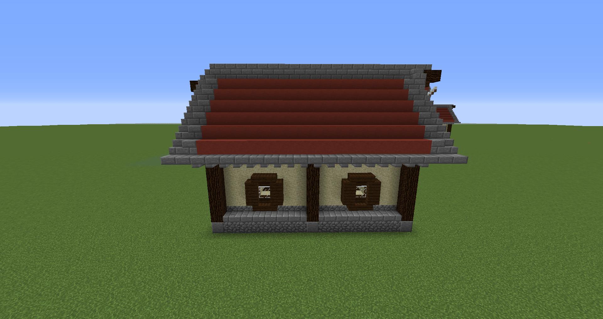 マインクラフト 風車小屋の作り方 簡単建築29