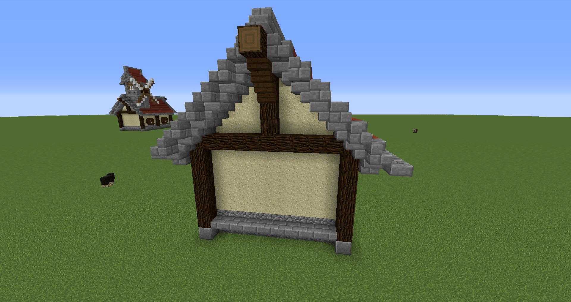 マインクラフト 風車小屋の作り方 簡単建築30
