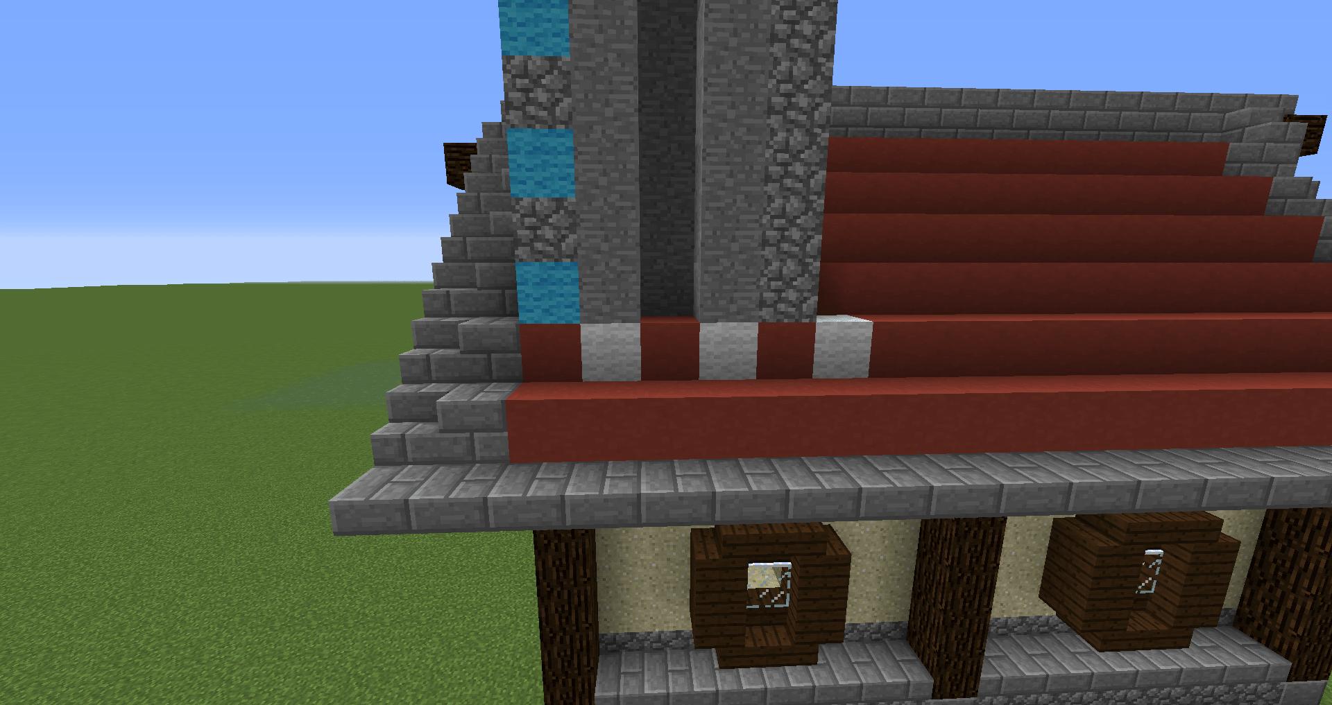 マインクラフト 風車小屋の作り方 簡単建築32