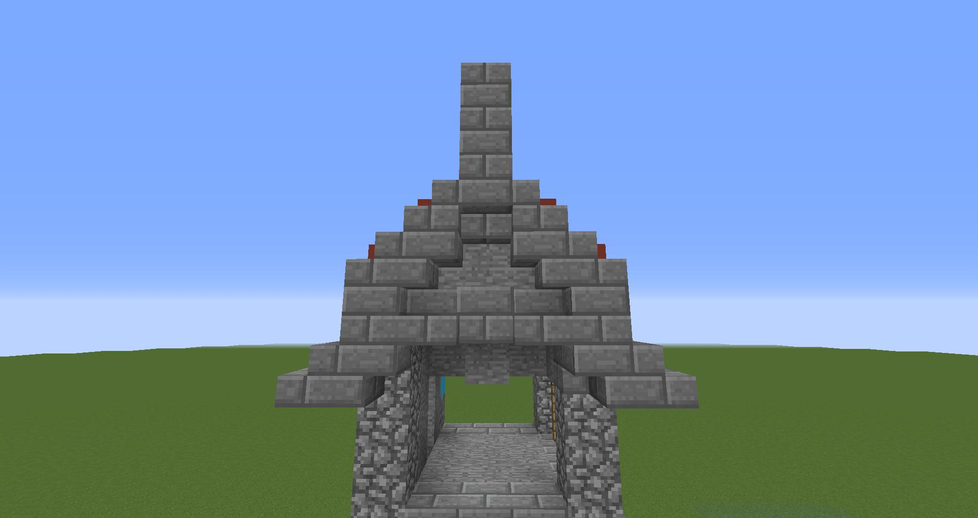 マインクラフト 風車小屋の作り方 簡単建築35