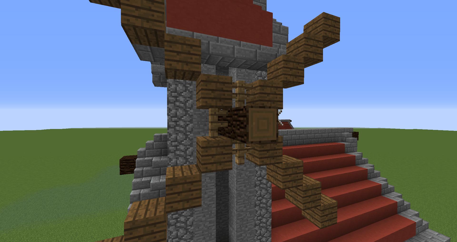 マインクラフト 風車小屋の作り方 簡単建築38
