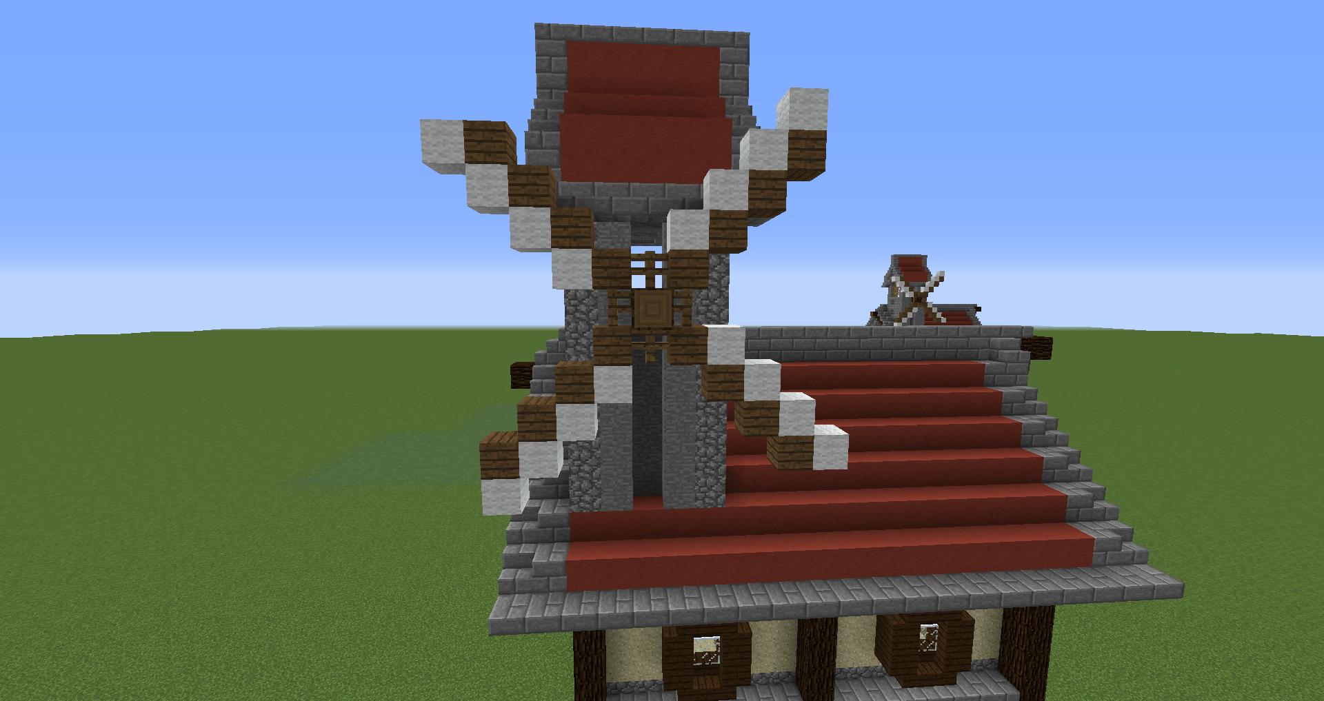 マインクラフト 風車小屋の作り方 簡単建築39