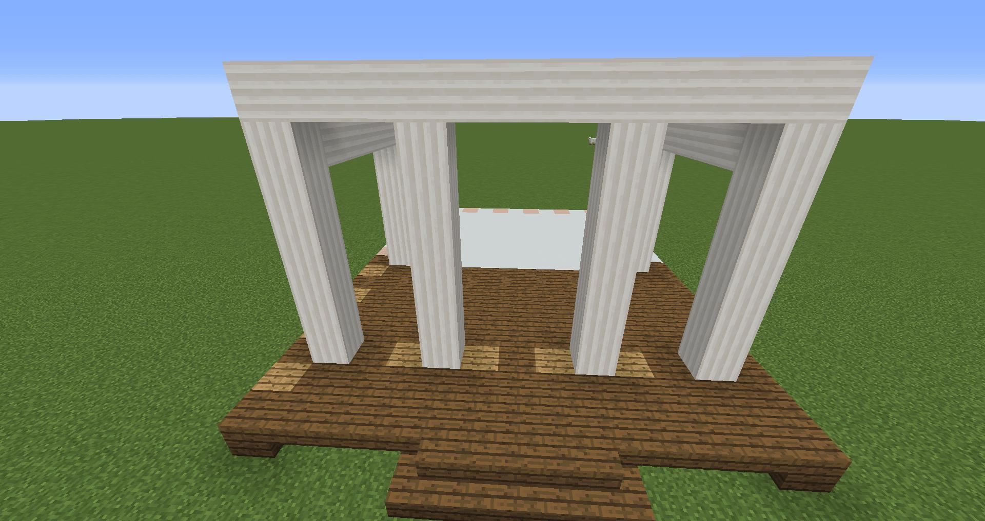 マインクラフト 白い家の建築、作り方、設計図2