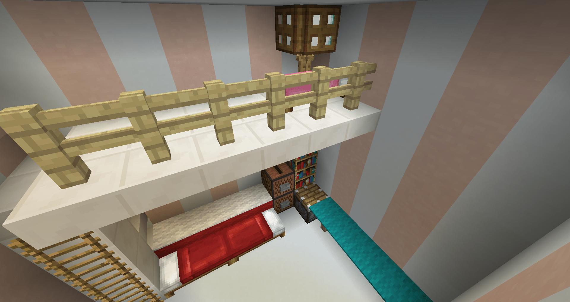 マインクラフト 白い家の建築、作り方、設計図21