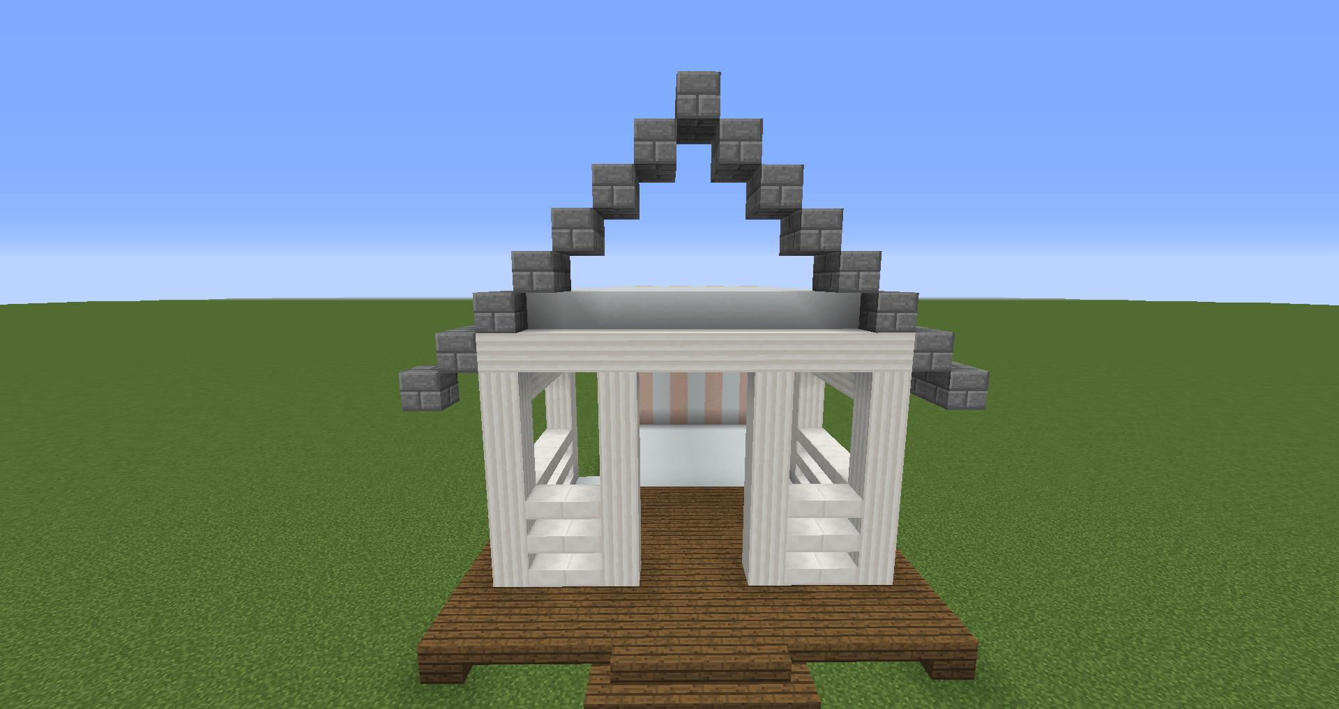 マインクラフト 白い家の建築、作り方、設計図3