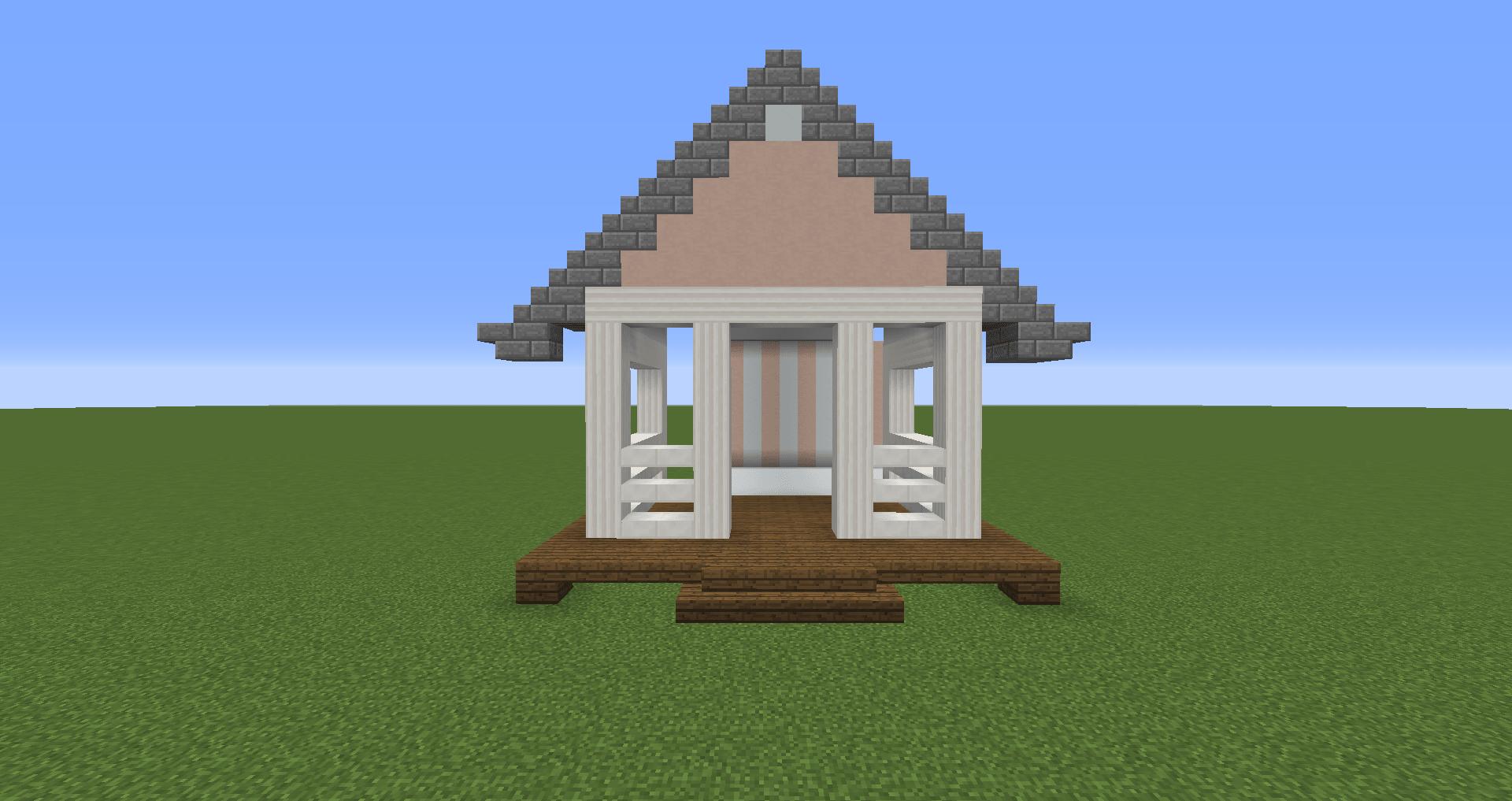 マインクラフト 白い家の建築、作り方、設計図5