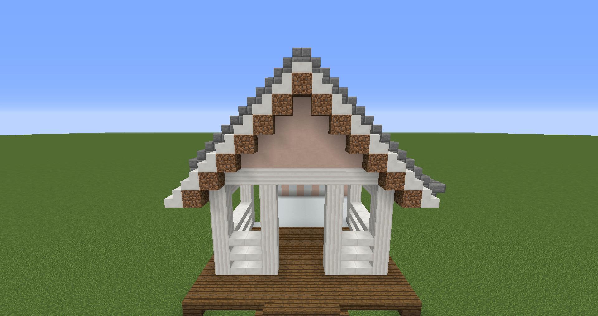 マインクラフト 白い家の建築、作り方、設計図6