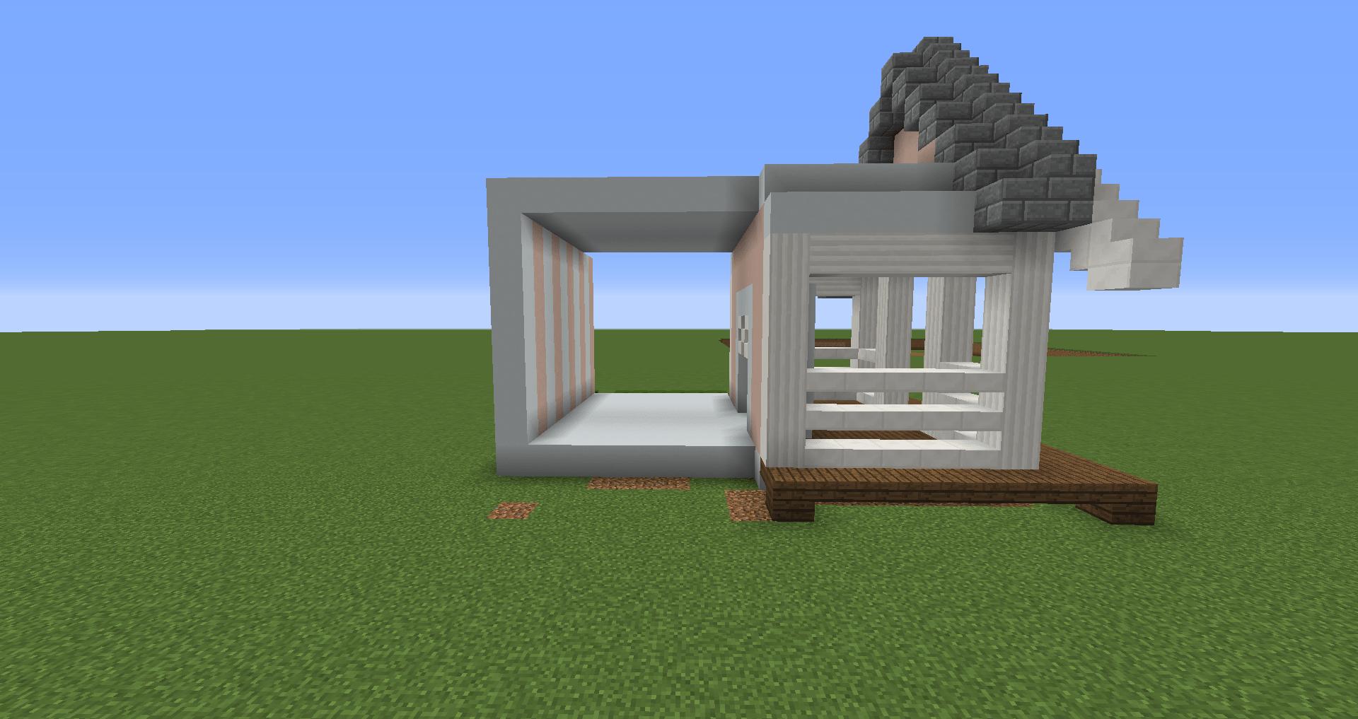 マインクラフト 白い家の建築、作り方、設計図11