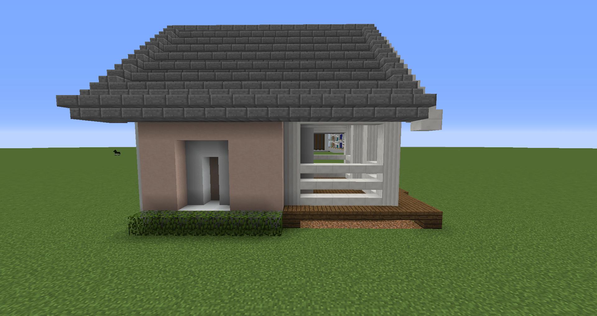 マインクラフト 白い家の建築、作り方、設計図14