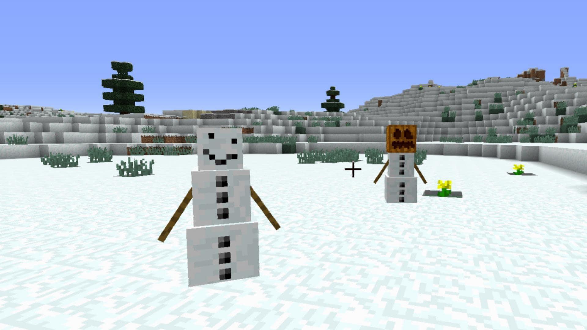 マインクラフト攻略 雪ブロックの使い方