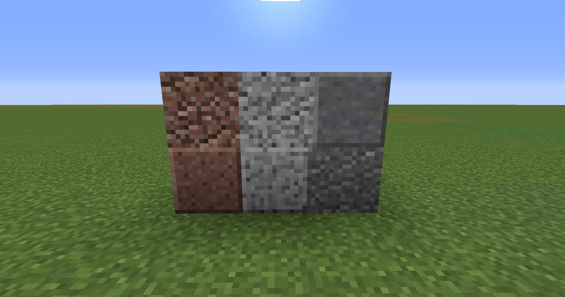 マインクラフト攻略 花崗岩・安山岩・閃緑岩の使い方