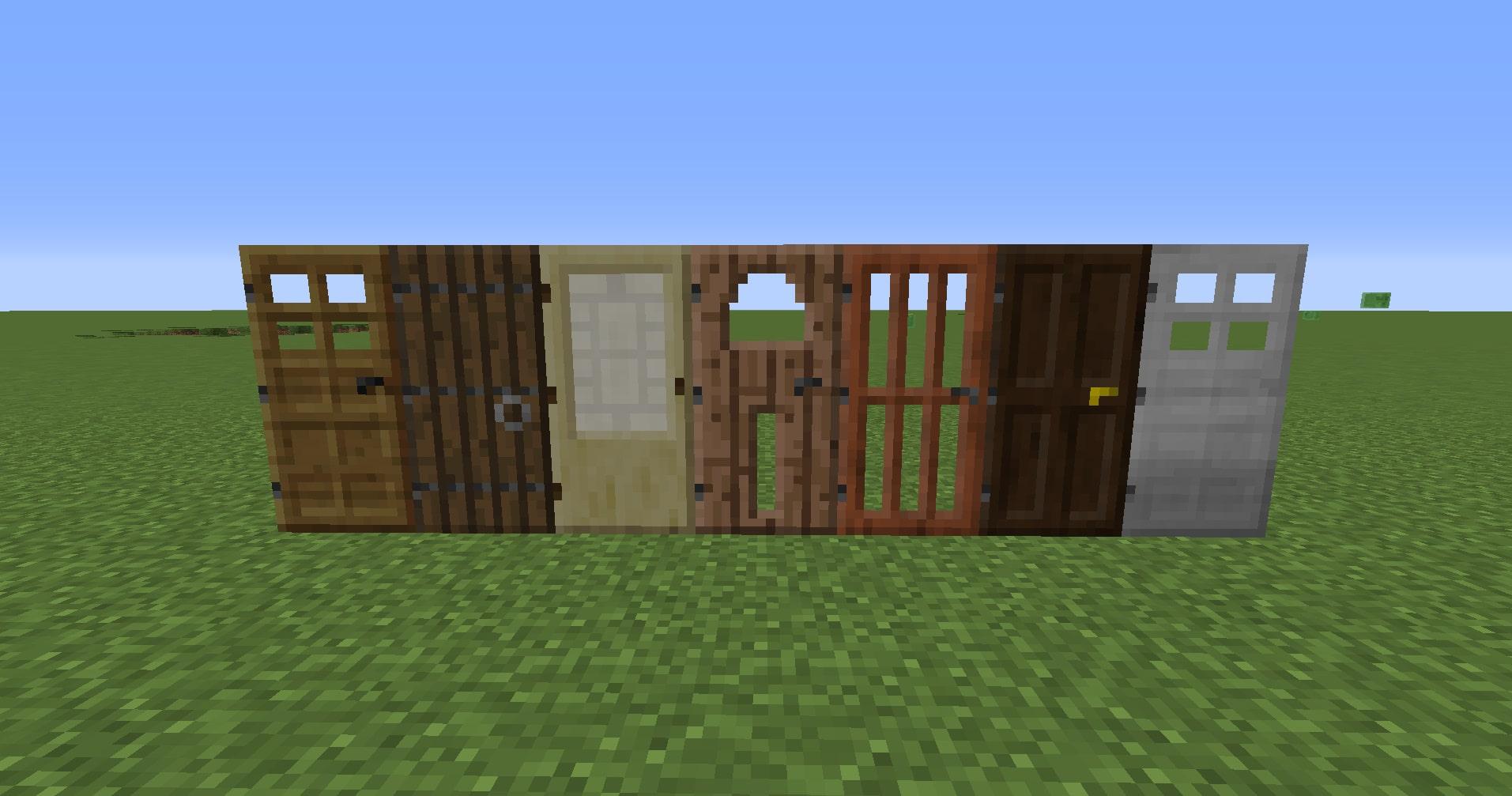 マインクラフト攻略 ドアの使い方