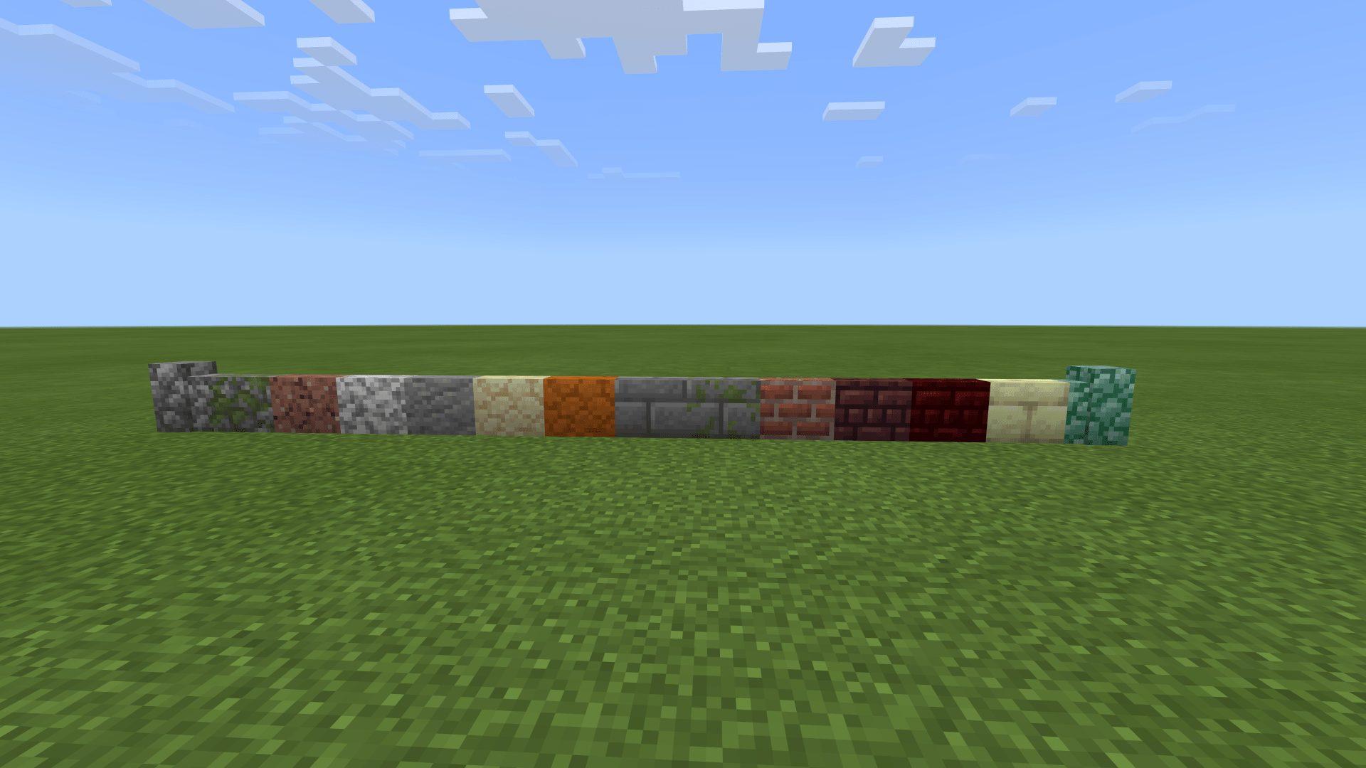 マインクラフト統合版BE 石の壁の作り方・レシピ