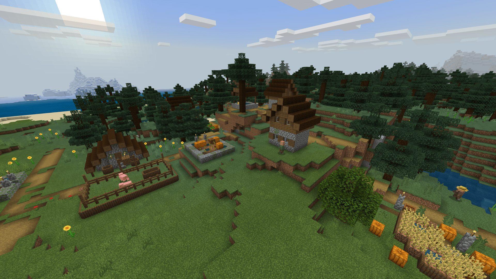 マインクラフト統合版BEの攻略!村を見つけよう!