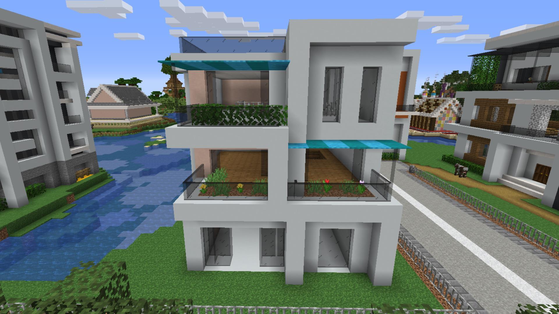 【マインクラフト】モダン建築の作り方