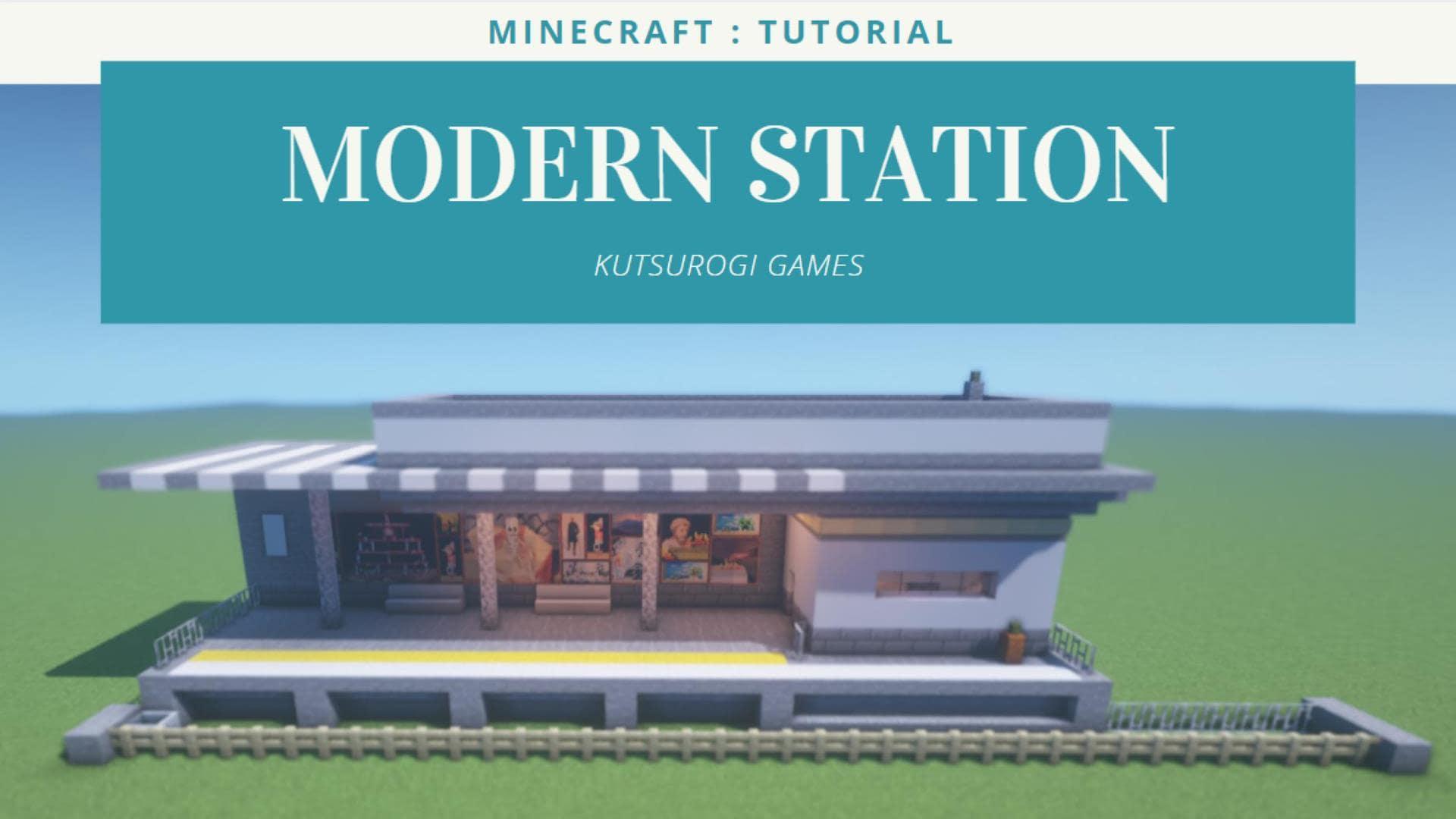 マインクラフト モダンな駅の作り方